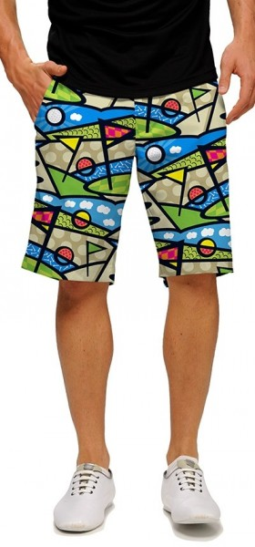 "Loudmouth Men's Golf Short ""Lob Swing Divot StretchTech"""
