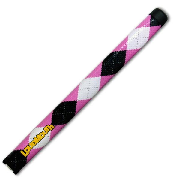 Puttergriff Standard-Pink & Black Argyle