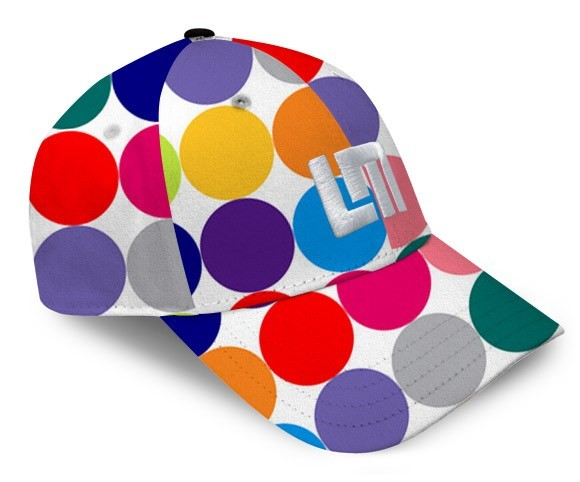 "Loudmouth All-Over Cap ""Disco Balls White"""
