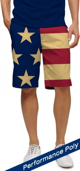 "Loudmouth Men's Golf Short ""Old Glory StretchTech"""