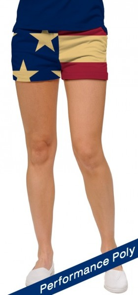 "Loudmouth Women Mini-Shorts ""Old Glory StretchTech"""