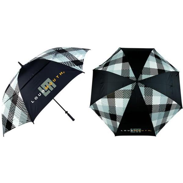 Loudmouth Umbrella-Silver & Black