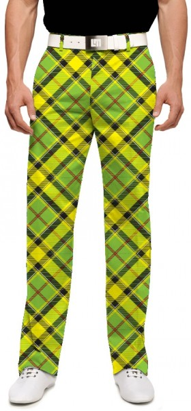 "Loudmouth Men's Golf Pants "" Mojito StretchTech"""