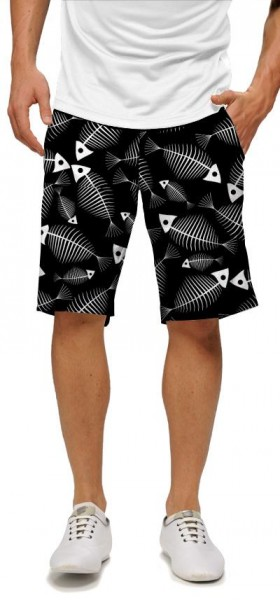 "Loudmouth Men's Golf Short ""Fish Bones"""