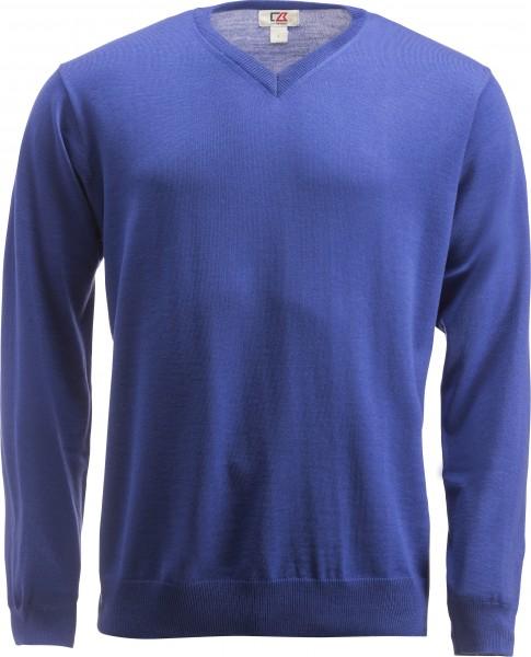 Everett Herren V-neck Pullover Cobolt Blue-578