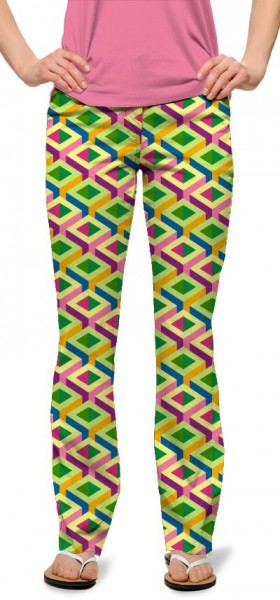 "Loudmouth Damen-Hose, lang ""Block Party""-Copy"