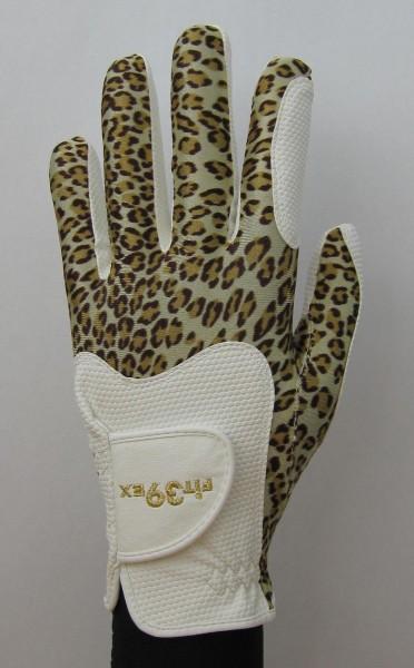 Golf Glove Fit 39 Leopard/White