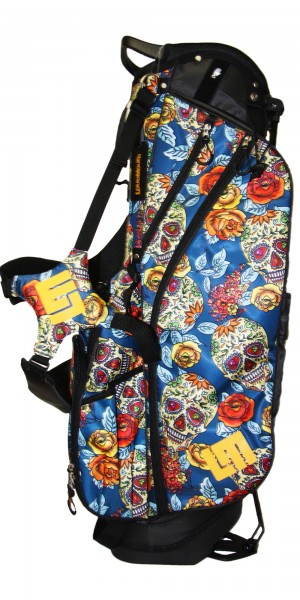 """NEW Loudmouth 8.5 inch Stand Bag """"Rosa Skull"""""""