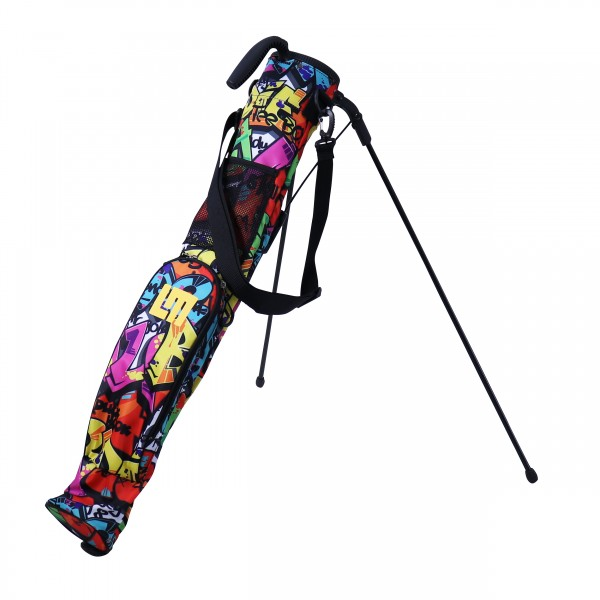 """Loudmouth Self Stand Training/Speed Golf Bag """"Tags"""""""