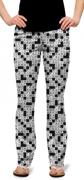 """Loudmouth Women Trouser """"Golfword Puzzle"""""""