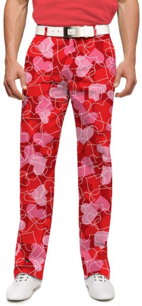 "Loudmouth Men's Golf Trousers ""Sweethearts"""