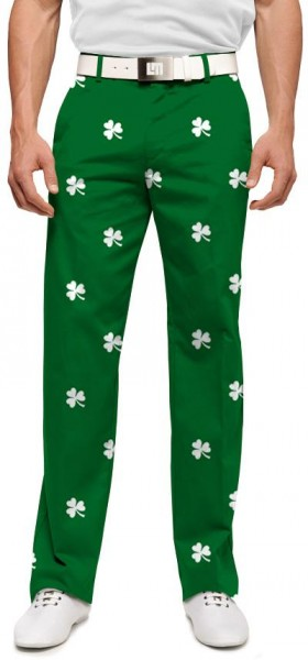 "Loudmouth Men's Golf Trousers ""Shamrocks"""