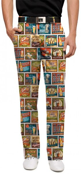 "Loudmouth Men's Golf Trousers ""Beer Thirty"""