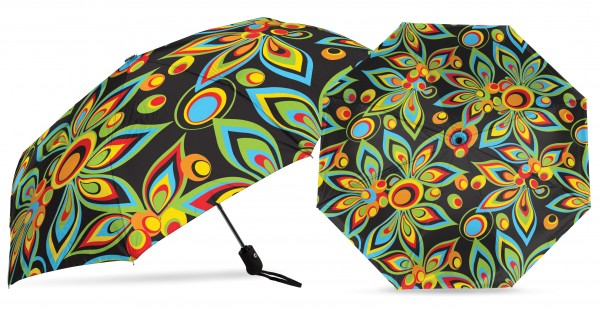 Loudmouth UV+ MINI Umbrella - Black Shagadelic