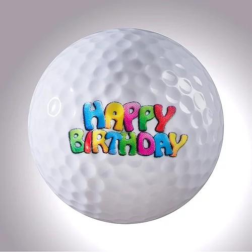"magball-magnetic Deco-Golf Ball ""HAPPY BIRTHDAY"""