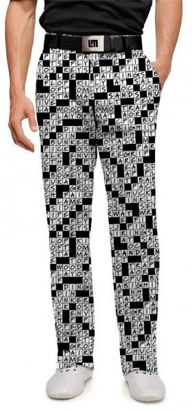"""Loudmouth Men's Golf Trousers """"Golfword Puzzle"""""""