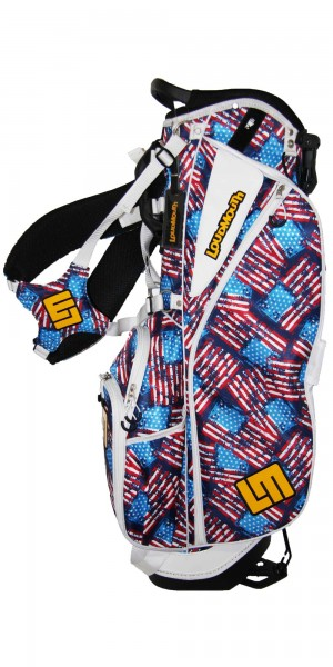 """NEW Loudmouth 8.5 inch Stand Bag """"Antique Flag"""""""
