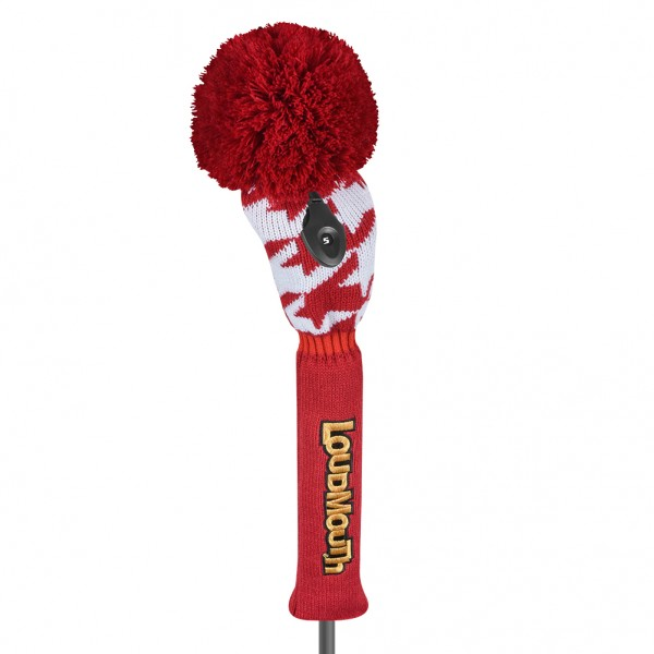 """Fairway Wood Headcover """"Red Tooth"""" Design"""