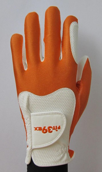 Golf Glove Fit 39 Orange/White