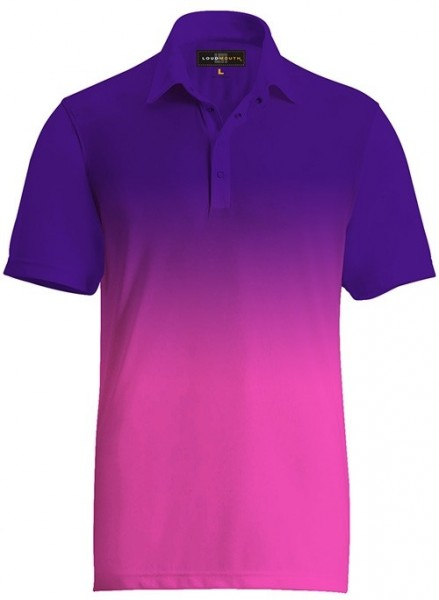 Loudmouth Fancy Ombre Purple-Pink Polo
