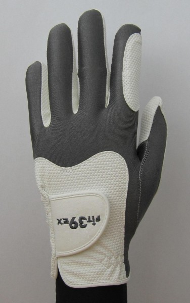 Handschuh Fit 39 Eisen/Weiß
