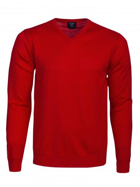 Everett Herren V-neck Pullover Bright Red-1430
