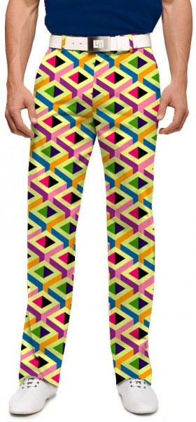 """Loudmouth Men's Golf Trousers """"Block Party"""""""