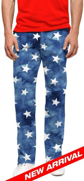"Loudmouth Men's Golf Trousers ""All Stars"""