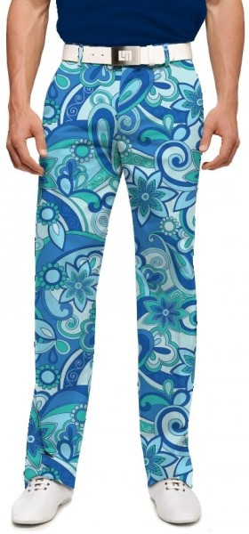 "Loudmouth Men's Golf Pants "" Summer of Love StretchTech"""