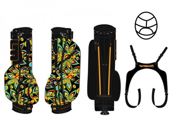 Loudmouth Stand Bag-Black Shagadelic