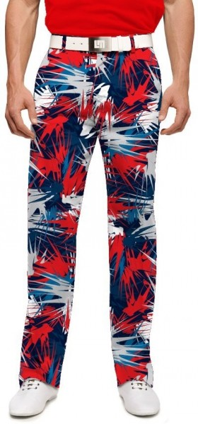 "Loudmouth Men's Golf Pants "" Icicles StretchTech"""