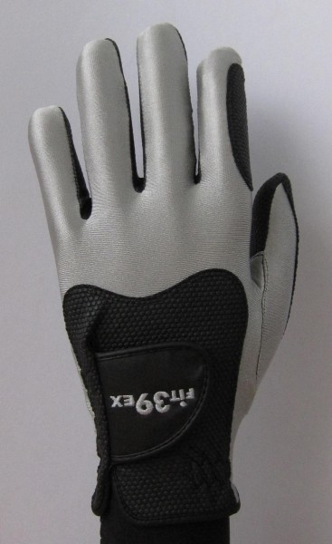 Golf Glove Fit 39 Silver/Black