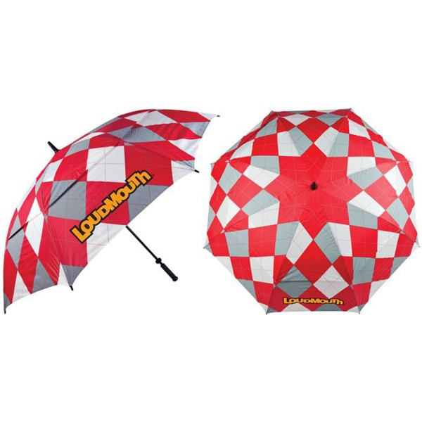 Loudmouth Umbrella- Red & Grey