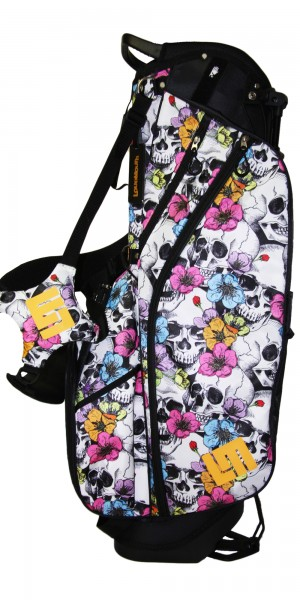 "NEW Loudmouth 8.5 inch Stand Bag ""Skull Flowers"""