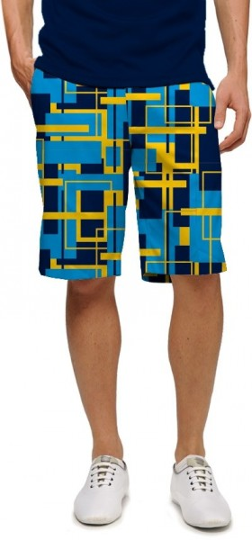 "Loudmouth Men's Golf Short ""Power Grid StretchTech"""