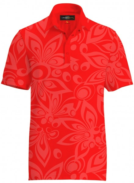 "Loudmouth Men's Tonal Shirt ""Shagadelic Red"""