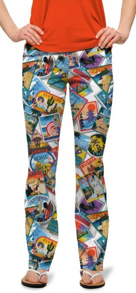 """Loudmouth Damen-Hose, lang """"Postcards from the Wedge"""""""