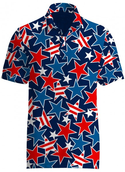 "Loudmouth Herren Fancy Polo ""Star Studded"""