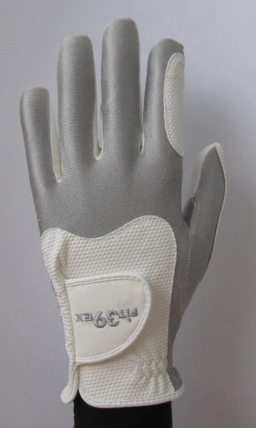 Golf Glove Fit 39 Silver/White