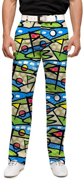"Loudmouth Men's Golf Pants "" Lob Swing Divot StretchTech"""