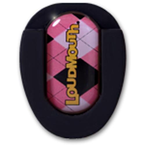 LM Ballmarker für Puttergriffe-Pink & Black Argyle-Standard