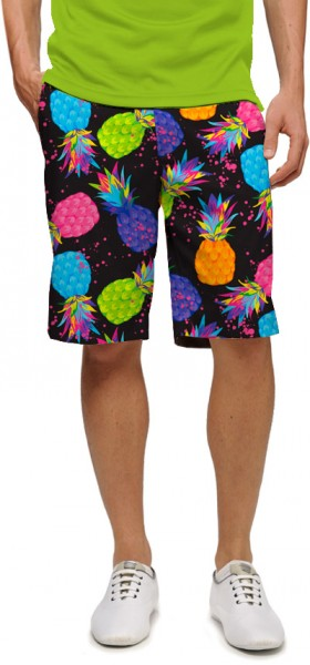 """Loudmouth Herren Short """"Electric Pineapples StretchTech"""""""