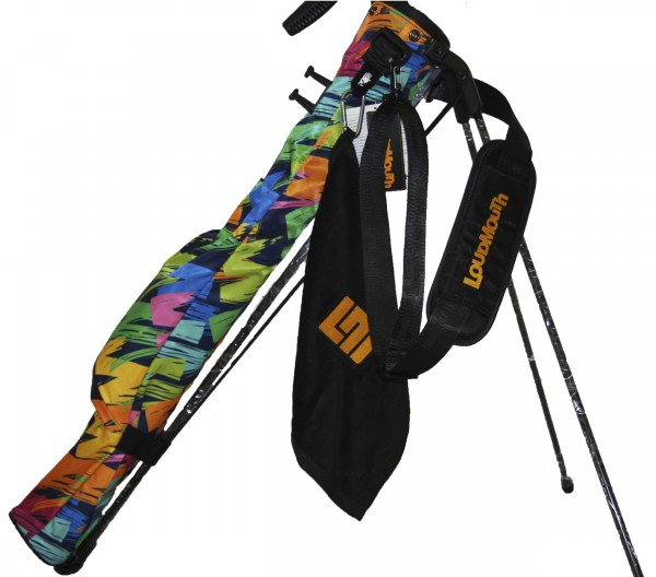 NEW Loudmouth Speed Golf Bag-Broad Strokes Navy-