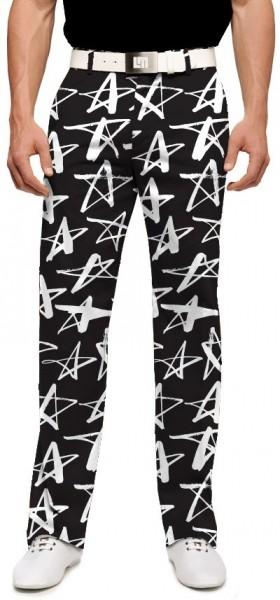 "Loudmouth Men's Golf Pants "" Shooting Stars StretchTech"""