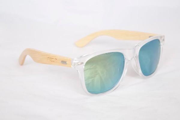 PELT WOOD Sunglasses , Blue-White