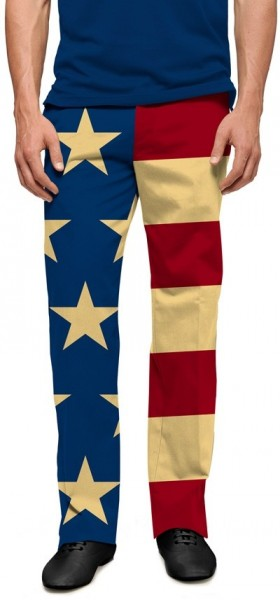 """Loudmouth Men's Golf Pants """" Old Glory StretchTech"""""""