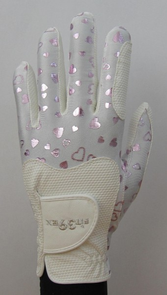 Golf Glove Fit 39 Heart Pink/White