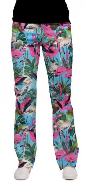 """Loudmouth Damen-Hose, lang """"Pink Flamingos"""""""