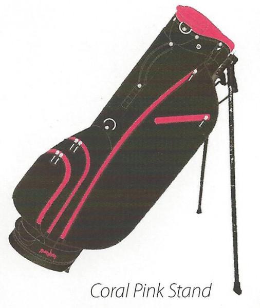 Molhimawk Stand Bag-Coral Pink-Neon Line