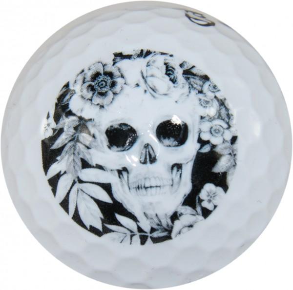 """LM """"Skull Garden"""" Design Golf Ball 3er Sleeve"""
